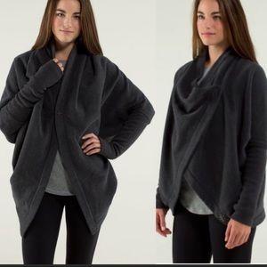 Lululemon It Makes Two Wrap Gray Jacket Sz S/M